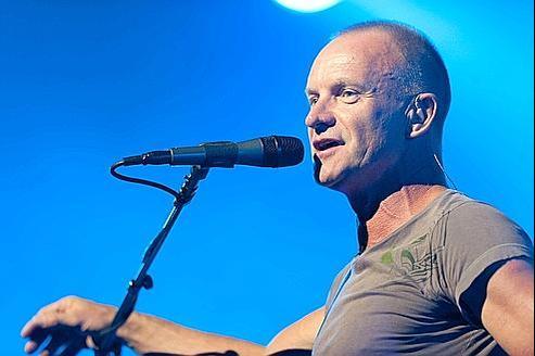 Sting en concert au Montreux Jazz Festival, en Suisse, en juillet dernier.