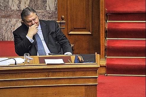 Le ministre grec des Finances Evangelos Venizelos a rencontré le FMI et la BCE ce dimanche