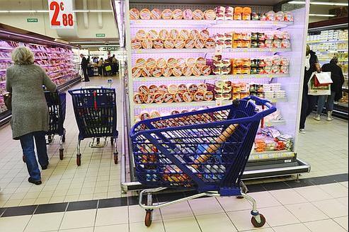 Un Français sur trois fait ses courses dans les hypermarchés Leclerc (ici, en région parisienne).