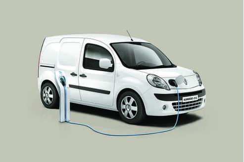Le Kangoo électrique de Renault.
