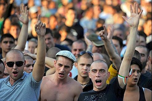 Manifestation anti-Roms, dimanche, à Plovdiv.