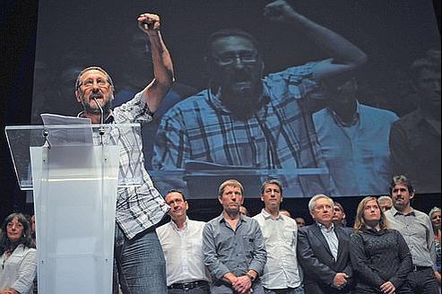 Créée en vue des élections, la nouvelle coalition indépendantiste basque, Amaiur, s'est réunie dimanche à Pampelune.