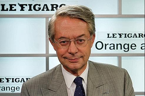 Philippe Marini, mercredi dans le studio du Figaro.