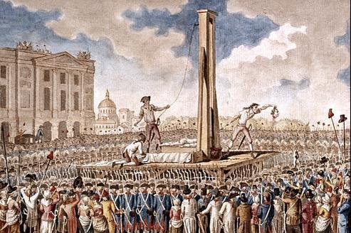 L'éxécution de Louis XVI, le 21 janvier 1793.