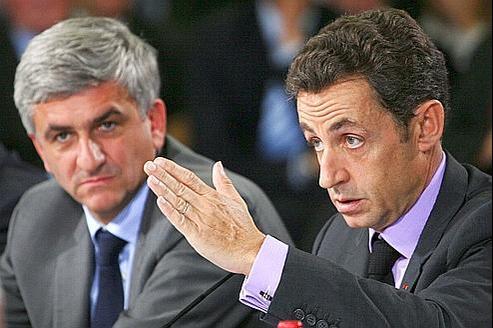Hervé Morin et Nicolas Sarkozy, en 2009. Les deux hommes se sont rencontrés mercredi lors d'un déjeuner.