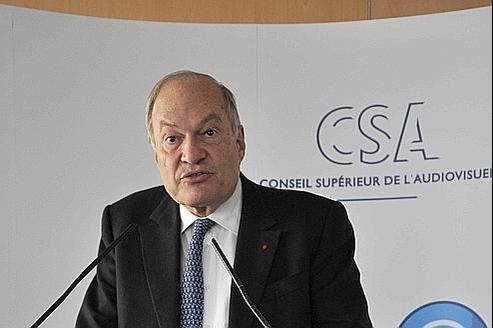Michel Boyon lors de la Conférence de presse du Conseil Supérieur de l'Audiovisuel, là Paris e 26 septembre dernier.