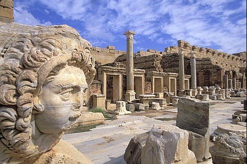 Le site de Leptis Magna, près de Tripoli, en Libye.