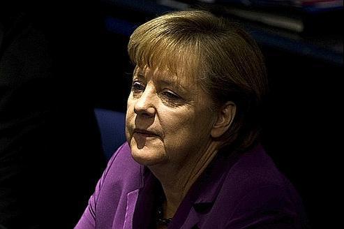 Angela Merkel, vendredi au Bundestag. La chancelière a annulé son allocution, prévue vendredi matin devant les députés allemands.