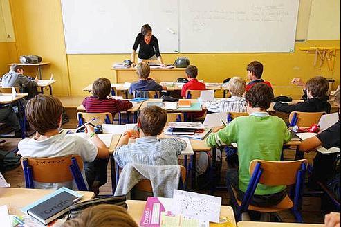 Une salle de classe du collège Saint Jean-de-Passy. (Crédits photo: LE FIGARO)