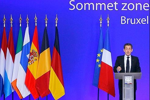 Conférence de presse de Nicolas Sarkozy à l'issue du sommet marathon de Bruxelles.