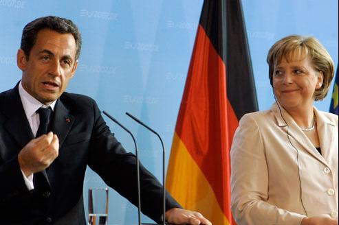 Nicolas Sarkozy au côté de la chancelière allemande, Angela Merkel. (Crédits photo: AP)