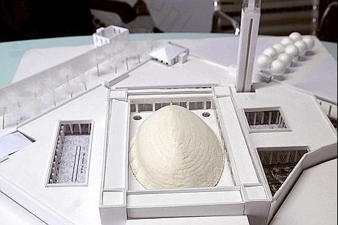La maquette de la Grande Mosquée.