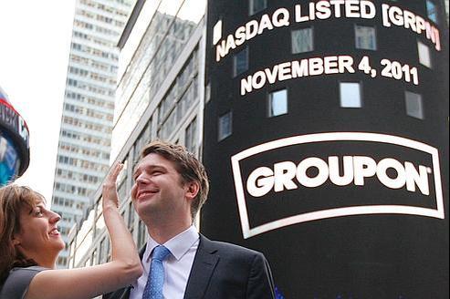 Groupon réussit son entrée en Bourse
