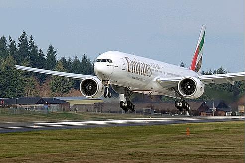 Un Boeing 777 de la compagnie Emirates.