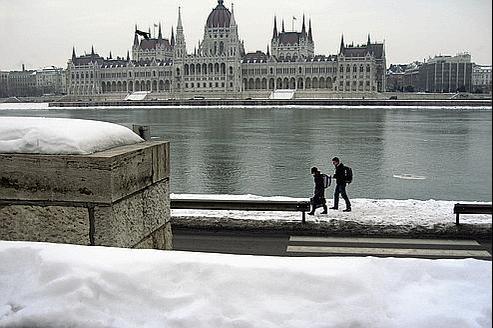 Vue de Budapest, d'où des rejets d'iode 131 se seraient échappé de l'Institut des isotopes.
