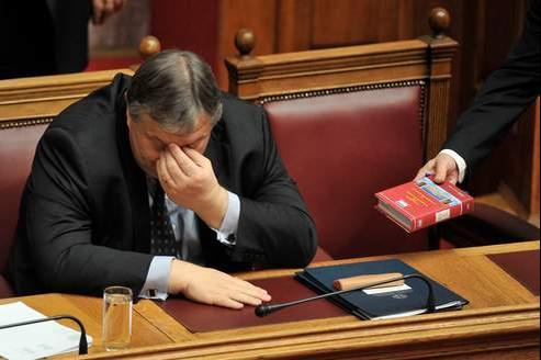 Le ministre grec des Finances Georges Venizelos.