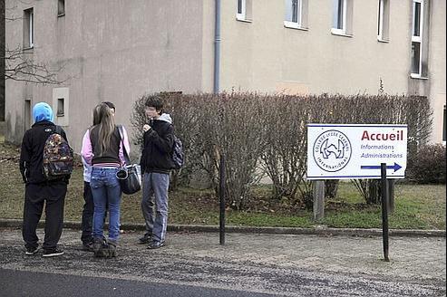 Des élèves du collège Cévenol.