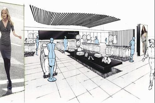 Le magasin Marks & Spencer des Champs Elysées modélisé en 3D (DR)