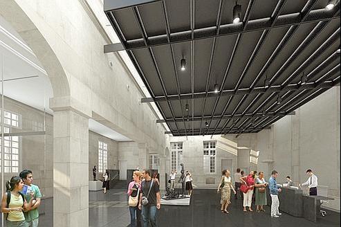 Projection de ce que sera l'accueil du Musée Picasso une fois les travaux terminés.