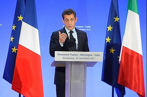 Nicolas Sarkozy, jeudi, à Strasbourg.