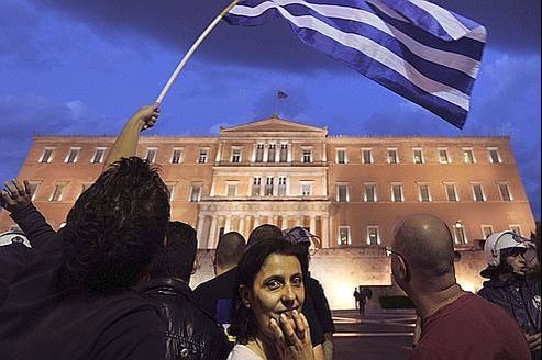 Manifestation à Athènes en mai dernier.