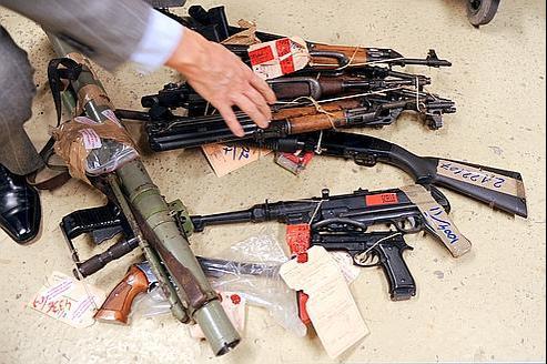 Saisie d'armes à Marselle, le 1er décembre.