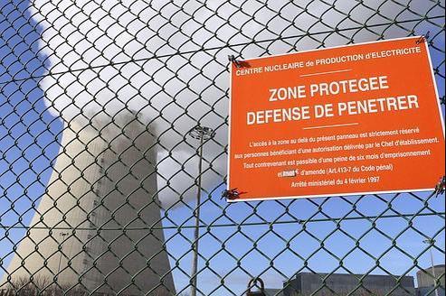 La centrale de Nogent-sur-Seine lundi matin.