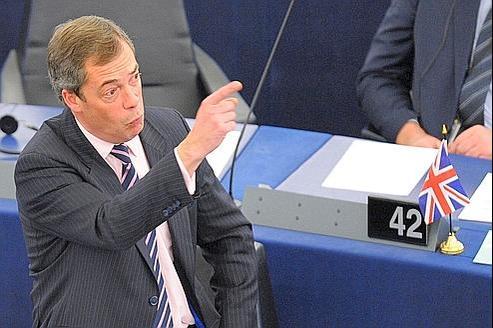 Nigel Farage, député européen et fervent eurosceptique