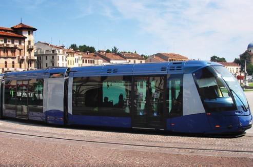 La ville de Padoue, en Italie, est équipée de Translohr.