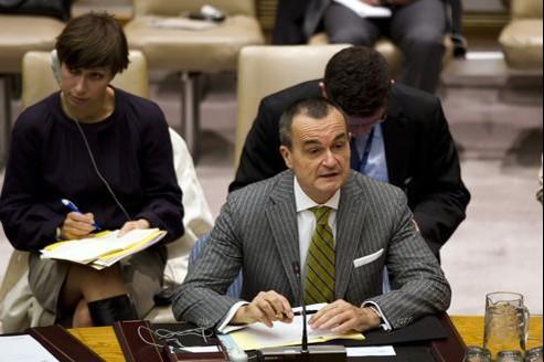 Gérard Araud est ambassadeur de France à l'ONU. C'est lui qui a fait voter l'intervention en Libye. Don EMMERT/AFP
