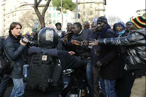 Le meurtre de deux Sénégalais a provoqué une manifestation dans les rues de Florence.