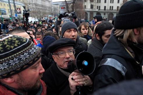 Manifestation à Moscou, le 10 décembre.