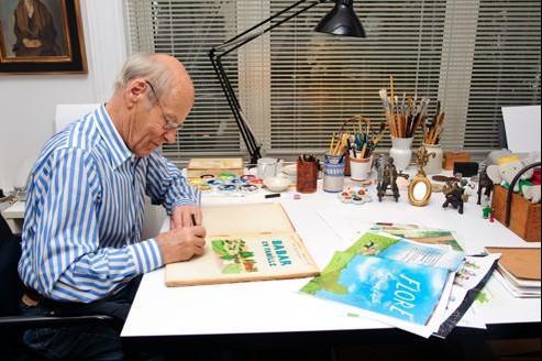 Laurent de Brunhoff chez lui, à New York, en septembre dernier.