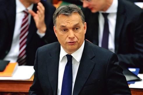 Viktor Orban au Parlement hongrois, le 12 décembre dernier.