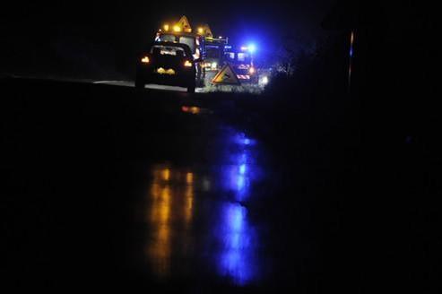Un accident de la route près de Auxey-Duresses (Bourgogne), en novembre dernier.