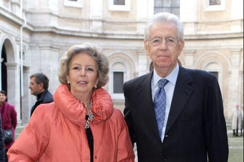 Elsa et Mario Monti à Rome en novembre dernier.