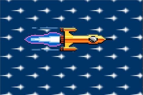 Capture d'écran de la fusée animée, symbole du lancement prochain de Free mobile, qui apparaît sur le site de l'opérateur en tapant un code. DR