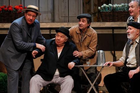 Michel Galabru, lors d'une répétition au Théâtre Hébertot.