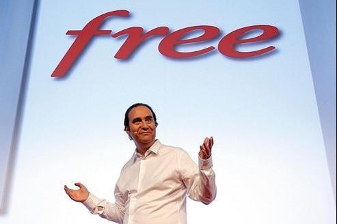 Xavier Niel, PDG de Free Mobile, lors de la présentation des offres, mardi.