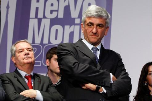 Hervé Morin lors de la présentation de son équipe de campagne, le 4 janvier, à Paris