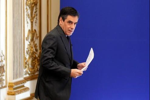 François Fillon, samedi à Paris.