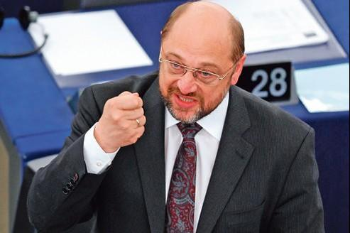 Martin Schulz au Parlement européen, à Strasbourg, en octobre 2011.