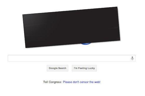 Google se voile de noir pour protester contre la loi SOPA