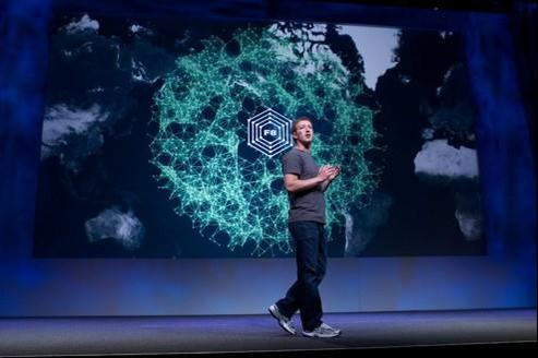 Mark Zuckerberg, le fondateur de Facebook, lors de la conférence F8 en septembre 2011.