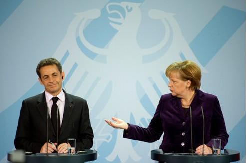 Nicolas Sarkozy et Angela Merkel lors de leur dernière rencontre le 9 janvier dernier.