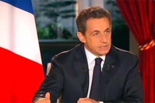 Capture d'écran de Nicolas Sarkozy, ce dimanche soir.