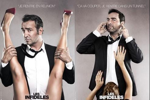 Jean Dujardin et Gilles Lelouche à l'affiche des Infidèles.(© Mars Distribution)
