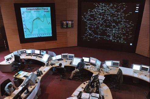 Centre d'opérations de Réseau de transport d'électricité à Saint-Denis (Seine-Saint-Denis).