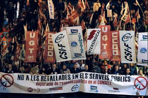 Manifestation contre l'austérité et le chômage le 26 janvier à Valence.