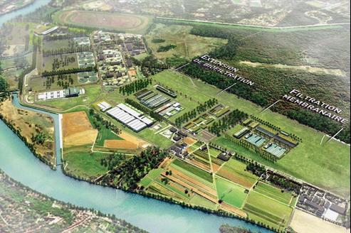 Image de synthèse du projet de centre de traitement biologique conduit par Véolia.